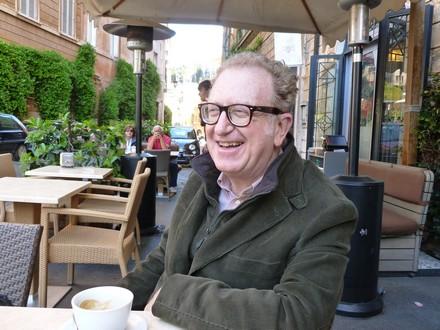 Valerio Magrelli à Rome. Photo de René Corona