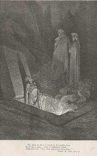 Inferno, Canto X, di Gustave Doré, L'apparizione di Farinata
