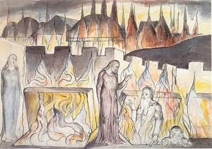 Di William Blake, Farinata degli Uberti e Cavalcante, con Dante e Virgilio