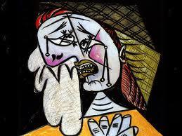 Donna che piange, di Picasso, 1936