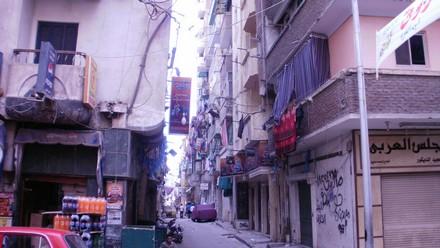 Strada del quartiere di Moharram Bey