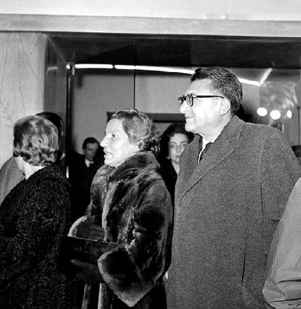 Riccardo Lombardi et sa femme Ena Viatto, 1961. Photo Archivio storico Luce.