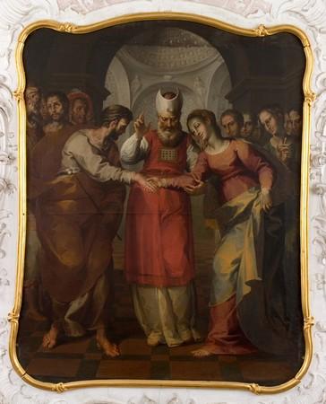 Simone Barabino, Lo sposalizio della vergine, palazzo Descalzi