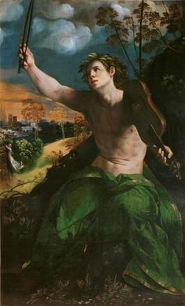 Apollo musico e Dafne, Dosso Dossi, Galleria Borghese, Roma
