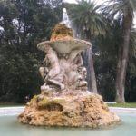 Fontana del giardino delle delizie ormai restaurata