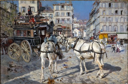 Boldini, Omnibus à Place Pigalle
