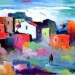 Antonio Berté, Il sabato del villaggio, collezione privata