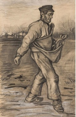 Vincent van Gogh, Il seminatore, 1882, Amsterdam, Kunsthandel P. de Boer