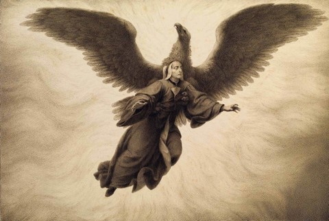 Francesco Scaramuzza – Divina Commedia, Purgatorio canto IX, Dante sogna di essere afferrato da un'aquila