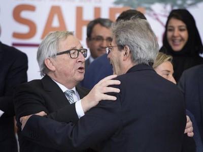 Jean-Claude Juncker e Paolo Gentiloni