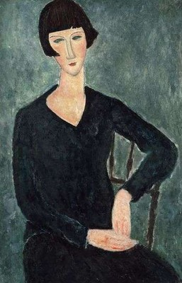 Amedeo Modigliani, Femme assise à la robe bleue, 1917-1919. Moderna Museet, Stockholm.