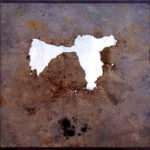 'Fotografia aerea n2' 2000 - Ferro, acciaio, 210x100 cm