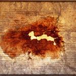 'Fotografia aerea n3' 2001 - Ferro, acciaio, 140x90 cm