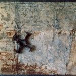 'Fotografia satellitare' 2002 - Ferro, sabbia, 180x100 cm