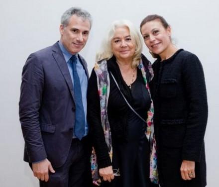 Joshua Siegel, curatore del Film Department del MoMA, insieme a Paola Ruggiero e Camilla Cormanni dell'Istituto Luce Cinecittà