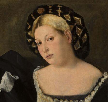 Bernardo Licinio - Ritratto di donna con balzo Credits: Gallerie del'l accademia di Venezia