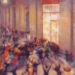Boccioni, Rissa in galleria (1910)