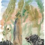 Une œuvre de Miguel Barcelò qui a illustré la Divine Comédie