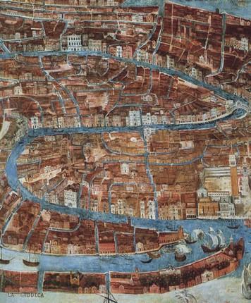 Plan de Venise (1620-30), Gian Battista Arzenti, Musée Correr, Venise