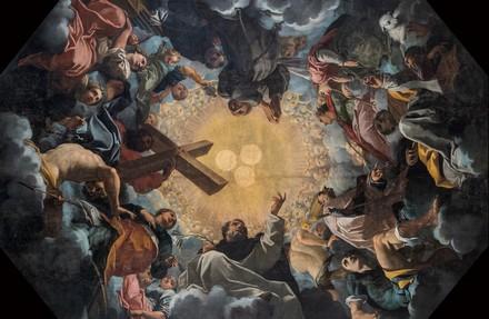 Carlo Bononi, Trinità adorata dai Santi, 1616-1617, Ferrara, Chiesa di Santa Maria in Vado