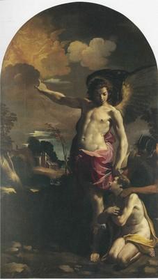 Carlo Bononi, Angelo custode, 1625-30, Bologna, Pinacoteca Nazionale