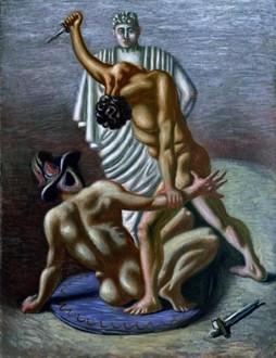 Giorgio de Chirico,Gladiatori, 1930-33, Trieste, Museo Revoltella