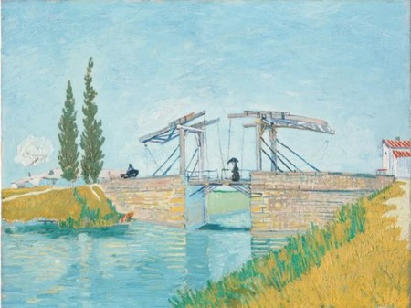 Vincent van Gogh, Il ponte di Langlois a Arles, Colonia, Wallraf-Richartz-Museum & Fondation Corboud © Rheinisches Bildarchiv Köln. Manifesto della mostra.
