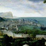 Une vue de Gênes au 16e siècle, détail d'un tableau de Jan Matsys.