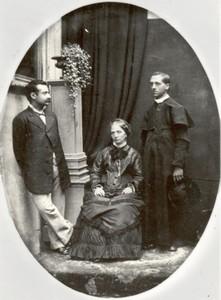 Edgardo Mortara (a destra) insieme alla madre