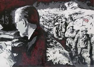 """""""Emilio Lussu: Ricordi"""", acrilico su tela di Andrea Triverio"""