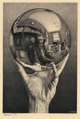 Escher, Mano riflettente con sfera (1935)