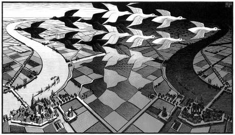 Escher, Day and night (1938)