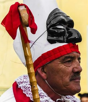 Pulcinella, Carnavale di Montemarano. Foto Domenico Durastante.