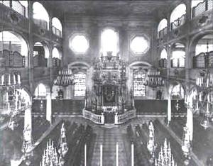 Interno vecchia Sinagoga Monumentale