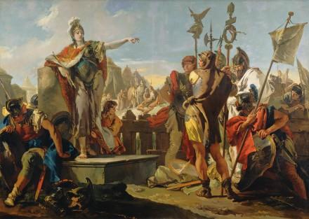La regina Zenobia di Palmira si rivolge ai suoi soldati, Giovanni Battista Tiepolo, 1725-1730