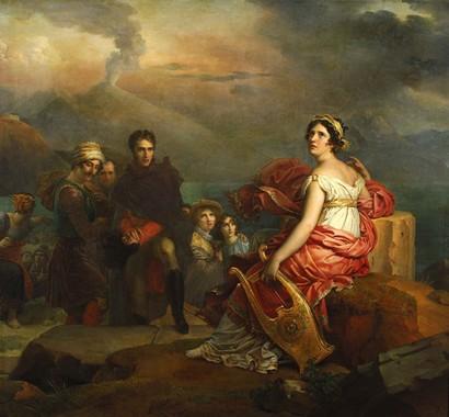 F. Gérard, Corinne au Cap Misène, 1819-1822, Lyon, Musée des Beaux-Arts