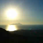 Il faro e l'isola di Marettimo