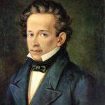Ritratto di Giacomo Leopardi (1798–1837) di A. Ferrazzi (Casa Leopardi, Recanati, Italia, 1820)