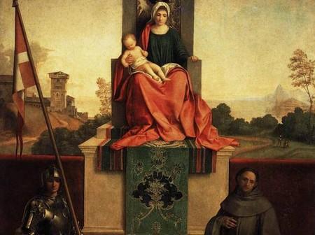 Giorgione - Pala di Castelfranco partic. (1503/1504) Credits: Duomo di Castelfranco V.