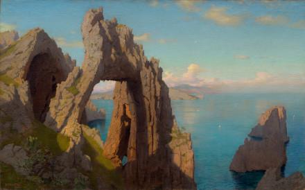 Arco naturale a Capri, un quadro di William Stanley Haseltine
