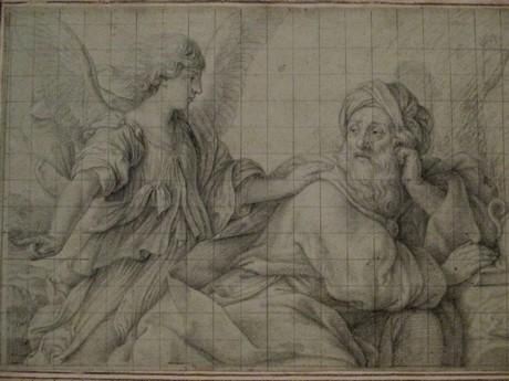 Il Sassoferrato, un angelo appare ad Elia, collezione privata USA