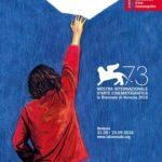Manifesto ufficiale della 73esima Mostra del Cinema di Venezia, ideato e realizzato per il quinto anno da Simone Massi