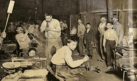 Le travail des enfants italiens dans les verreries au XIXe siècle et à la Belle Epoque (Lyon)