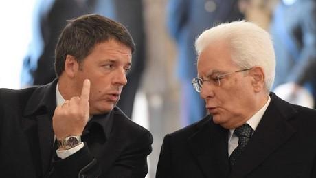 Matteo Renzi et le Président de la République italienne, Sergio Mattarella
