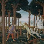 Nastagio degli Onesti di Sandro Botticelli, tavola 1 (1483).