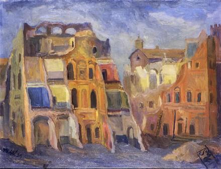 Mario Mafai, Demolizione dei borghi, 1939
