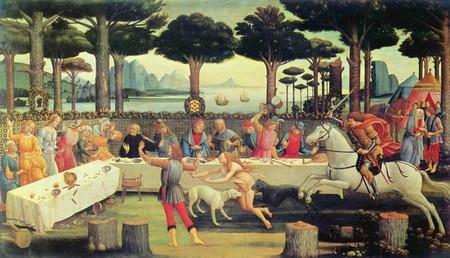 Nastagio degli Onesti di Sandro Botticelli, tavola 3.