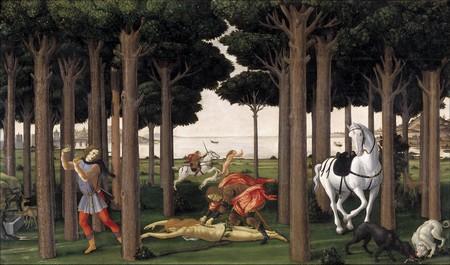 Nastagio degli Onesti di Sandro Botticelli, tavola 2.