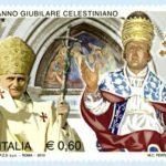 Francobollo di Poste Italiane che celebra l'anno giubilare celestiniano