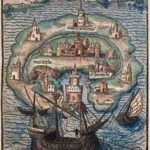 Antica illustrazione per l'Utopia di Thomas More
